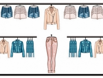 Retail Visual Planograms Illustration of woman fashion clothes