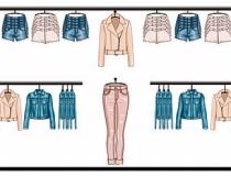 Retail Visual Planograms Illustration of woman fashion clothes